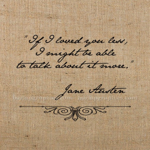 JANE AUSTEN QUOTE digital image download for by BurlapGraphics, $1.00