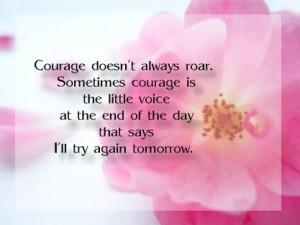 feel better courage