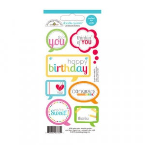 Doodlebug Design - Take Note Collection - Cardstock Stickers - Quotes