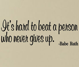 BABE RUTH VINYL WALL DECALS STICKERS MURAL QUOTE - BASEBALL GAMES ...