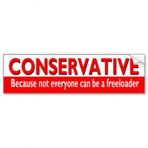 Funny #CONSERVATIVE Bumper Sticker