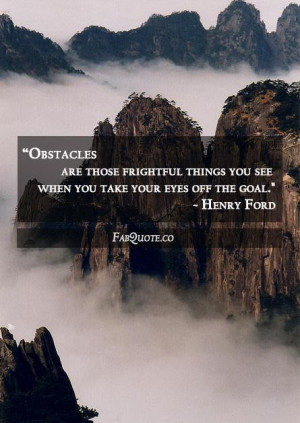 Henry ford obstacles quote