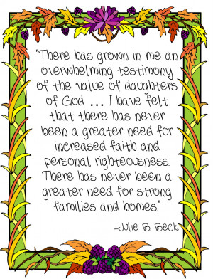 The Value of Daughters of God Handout by Julie B. Beck
