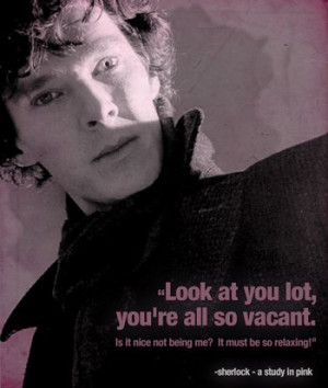 sherlock quote study in pink