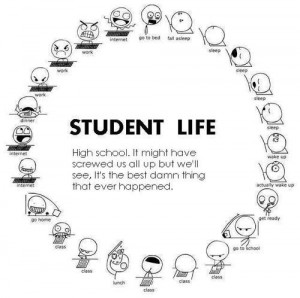 This photo pretty much sums up my school life.