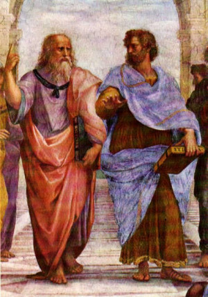 Plato and Aristotle from