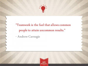 "... Allows Common People To Attain Uncommon Results "" - Andrew Carnegie"