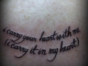 36. i carry your heart with me (i carry it in my heart.)