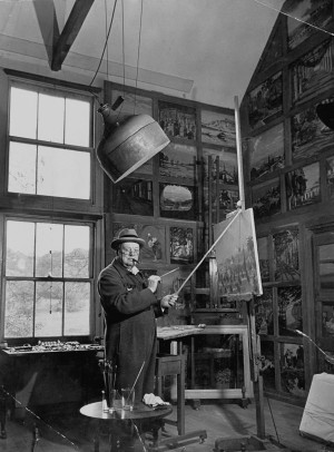 In addition, Churchill found that the skills he learned from painting ...