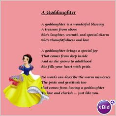 Will You Be My Godmother Poem