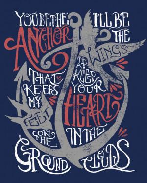 Anchor Love Quotes Knows. // mayday parada