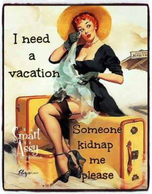 need a vacationWall Art, Art Prints, Vintage Pinup, Pin Up Art ...