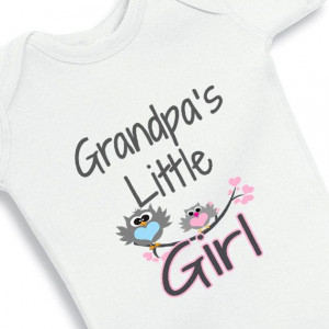 Grandpas Little Girl baby onesie by babyonesiesbynany on Etsy, $12.50