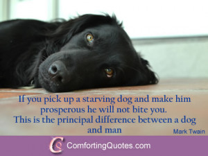 Mark Twain Quote About Dogs