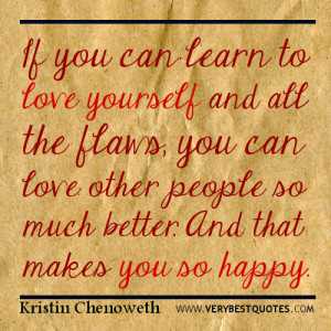 quotes about loving yourself - learn to love yourself