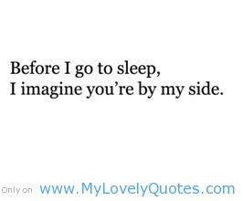 go to sleep cute love quotes