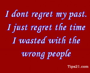 Dont Regret My Past Quotes
