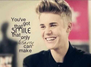 belieber, jb, justin bieber, quote, quotes, smile