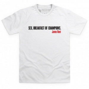 Autosport James Hunt Quote T Shirt