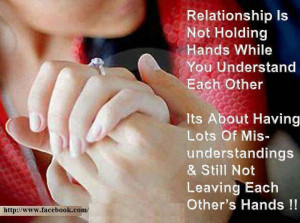 relationship is not about holding hands inspirational quote