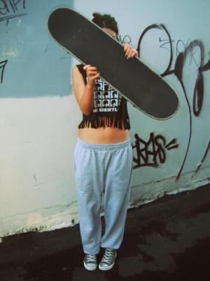 skate skateboarding girl vertical