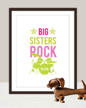 Cute Quotes About Big Sisters Big sister rock poster 11x14