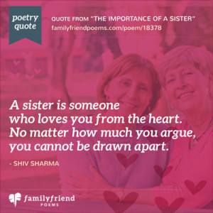 Sister Poems and Quotes
