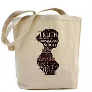 Austen Gifts > Austen Bags & Totes > Jane Austen Quote Tote Bag