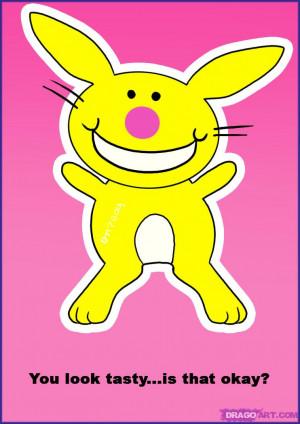 how to draw happy bunny