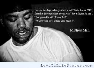 Method Man quote on Rap Music