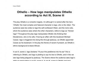 Quotes Iago Manipulation ~ Othello - How Iago manipulates Othello ...