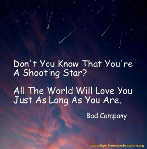 Pinnacle Performance Quotes / Be a Shooting Star for all the world to ...