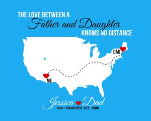 ... Away Quotes Dad Daughter, Family Distance Quotes, Diy Gift, Daughter