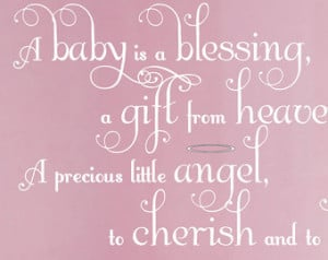 Baby Saying Wall Decal Nursery Deco r Girl Wall Sticker Rhyme ...
