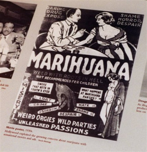 1930s anti-marijuana movie poster from the Drugs Enforcement ...