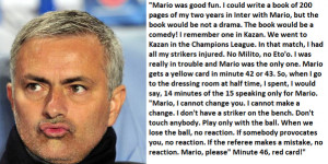 José Mourinho on Mario Balotelli