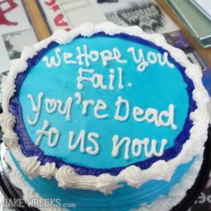 Esperamos que fallaras. Estás muerto para nosotros ahora.