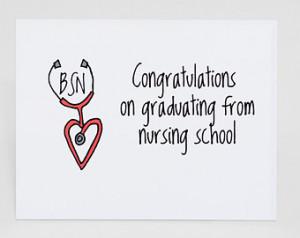 Nursing School Graduation Quotes Nursing school graduation card