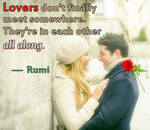 Quote by Rumi on lovers