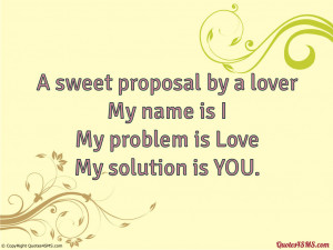 sweet proposal by a lover...