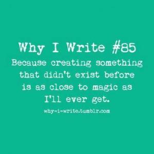 Writing is Magic