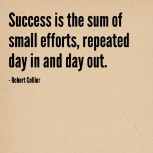small efforts