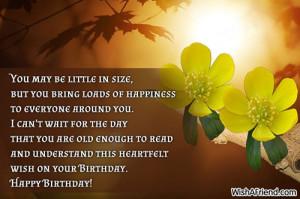 ... wonderful than when it stays that way. Happy 2nd birthday, little one