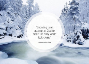 positive quotes about snow