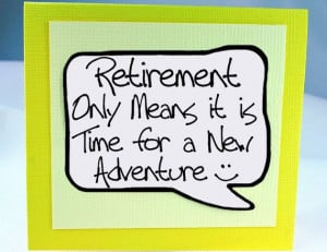 Retirement Card and Magnet Quote. Yellow Magnet Card for Retirement