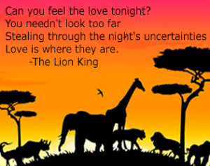 Lion Love Quotes More disney love quotes: