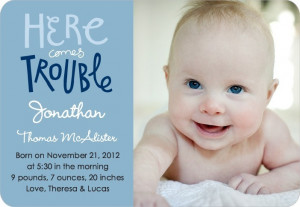 How To Make a Birth Announcement for Baby Boys