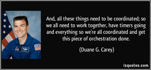 we all need to work together, have timers going and everything so we ...