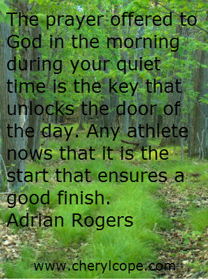 ... knows that it is the start that ensures a good finish. Adrian Rogers