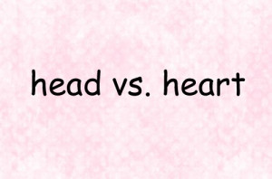 head vs heart # quotes # love